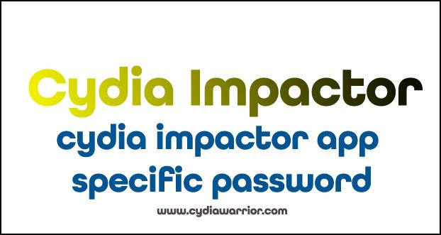 Cydia Impactor App Specific Password