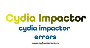 Cydia Impactor Errors