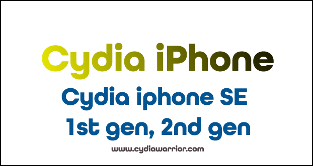 Cydia iPhone SE 1st gen, 2nd gen