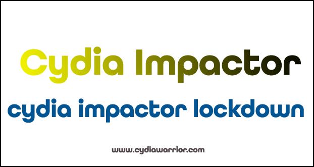 Cydia Impactor Lockdown Error