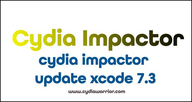 Cydia Impactor Update Xcode 7.3